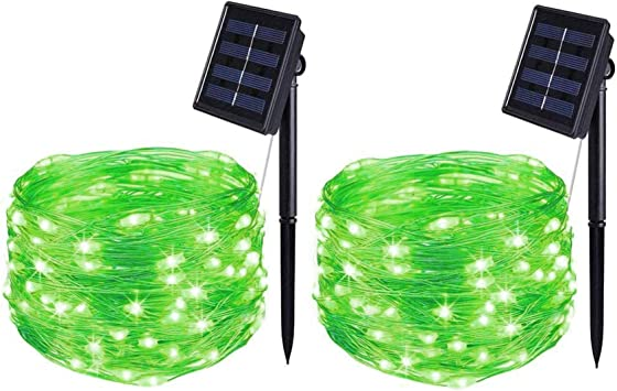 BOLWEO Solar Powered String Lights,Solar Fairy Lights,16.4Ft Wire for 2 Pack