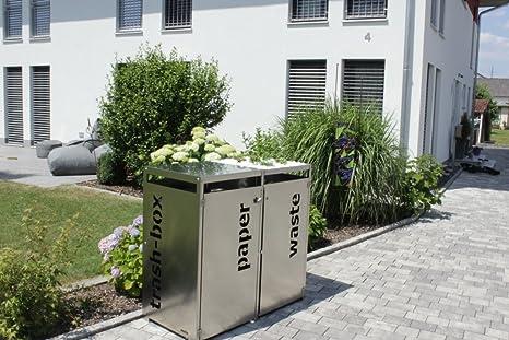 Unbekannt Metz trashbox Double schöner-wohnen24 Guardar Caseta de Acero Inoxidable