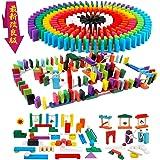 ドミノ倒し 積み木 360個 ギミック 仕掛け 34種セット 知育玩具 天然木製 おもちゃこども 誕生日 プレゼント 並べる用道具と収納袋つき