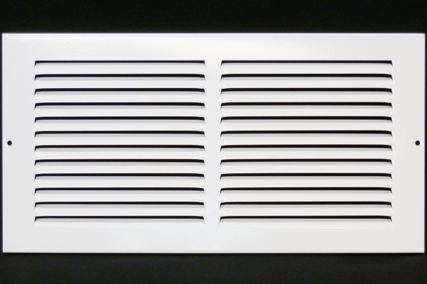 14''w X 8''h Steel Return Air Grilles - Sidewall and Cieling - HVAC DUCT COVER - White [Outer Dimensions: 15.75''w X 9.75''h]