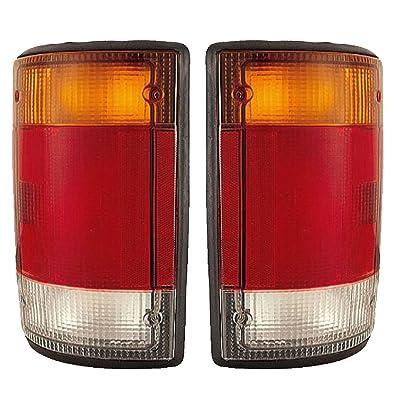 1992-1993-1994 Ford Econoline E-Series Van E150 E250 E350 Taillight Taillamp Rear Brake Tail Light Lamp Pair Set Right Passenger AND Left Driver Side (94 93 92): Automotive