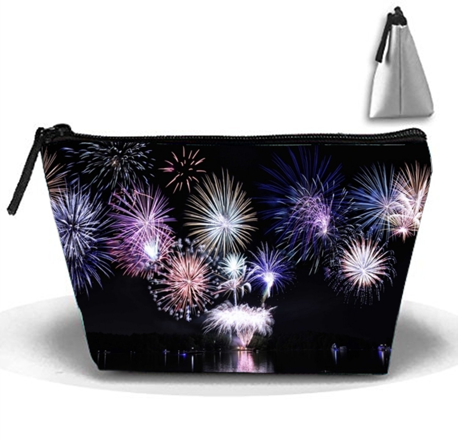 5ec3a2314c6e Amazon.com : Cosmetic Bags Travel Portable Makeup Pouch Fireworks At ...