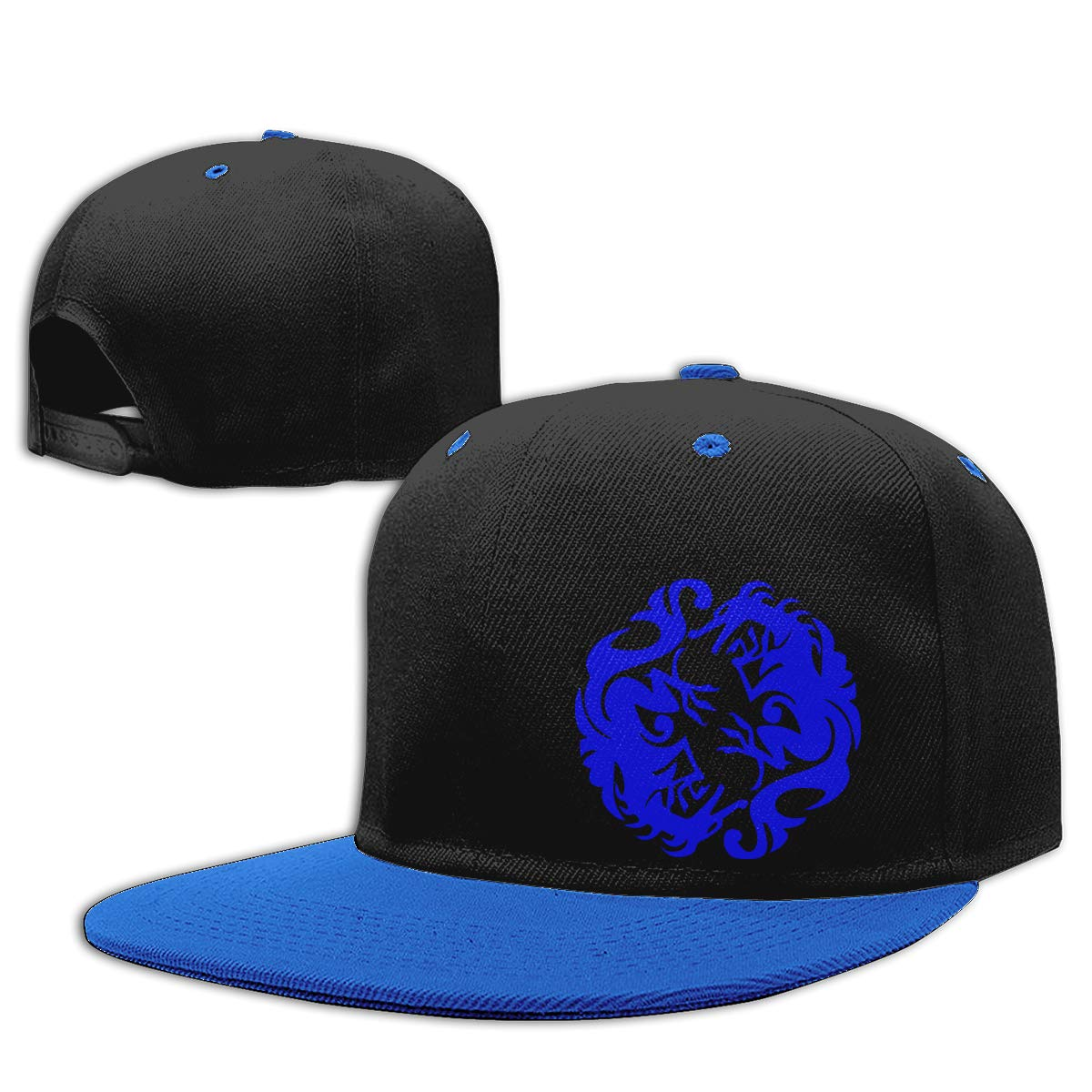 Men and Women Snapback Cap Double Dragon Printed Hip Hop Baseball Caps
