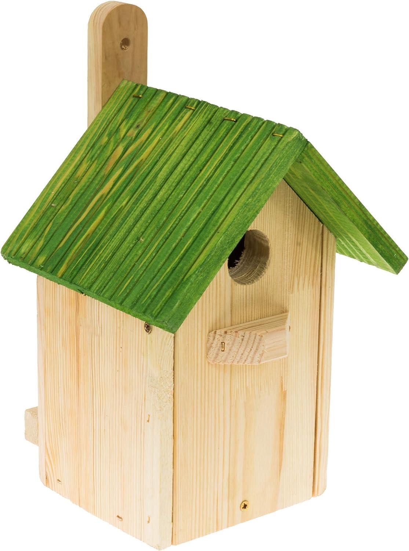 MAZUR International - Nido para pájaros (resistente a la intemperie, con orificio de 32 mm)
