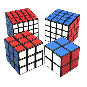 Great Black Cube Puzzle Bundle Pack,2x2x2,3x3x3,4x4x4,5x5x5 Set,shengshou Nice Design