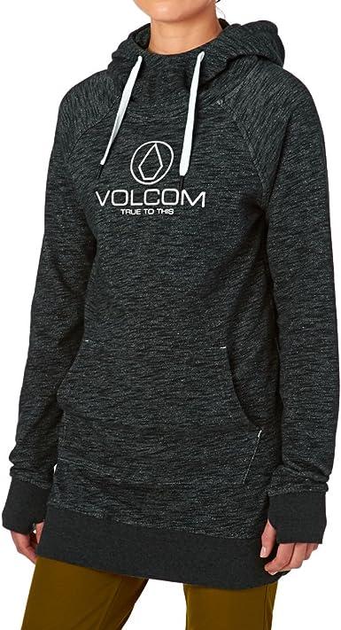Volcom Damen Costus Pollover Baselayer Hooded Fleece Snow Sweatshirt Hoodie