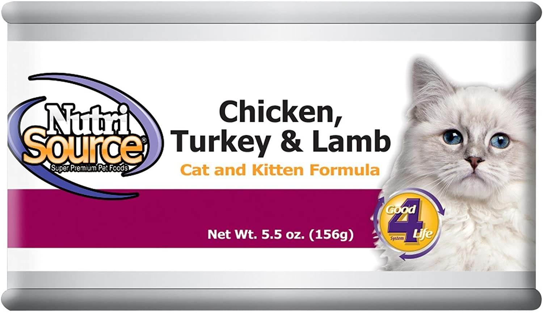 Tuffy'S Pet Food 131322 12-Pack Nutri Cat/Kitten Chicken/Turkey/Lamb Food, 5-Ounce