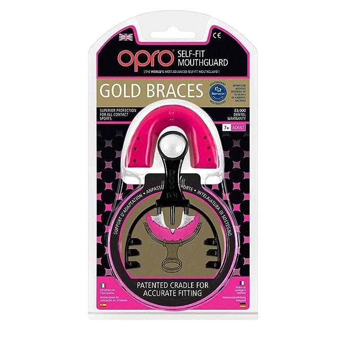 Opro Gold Bretelle Gen 4 Paradenti-Adulto-Blu//Pearl