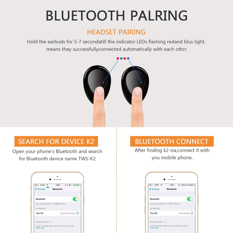 Auriculares Bluetooth Kingsky Auriculares Verdaderamente Inalámbricos Mini Auriculares: Amazon.es: Electrónica