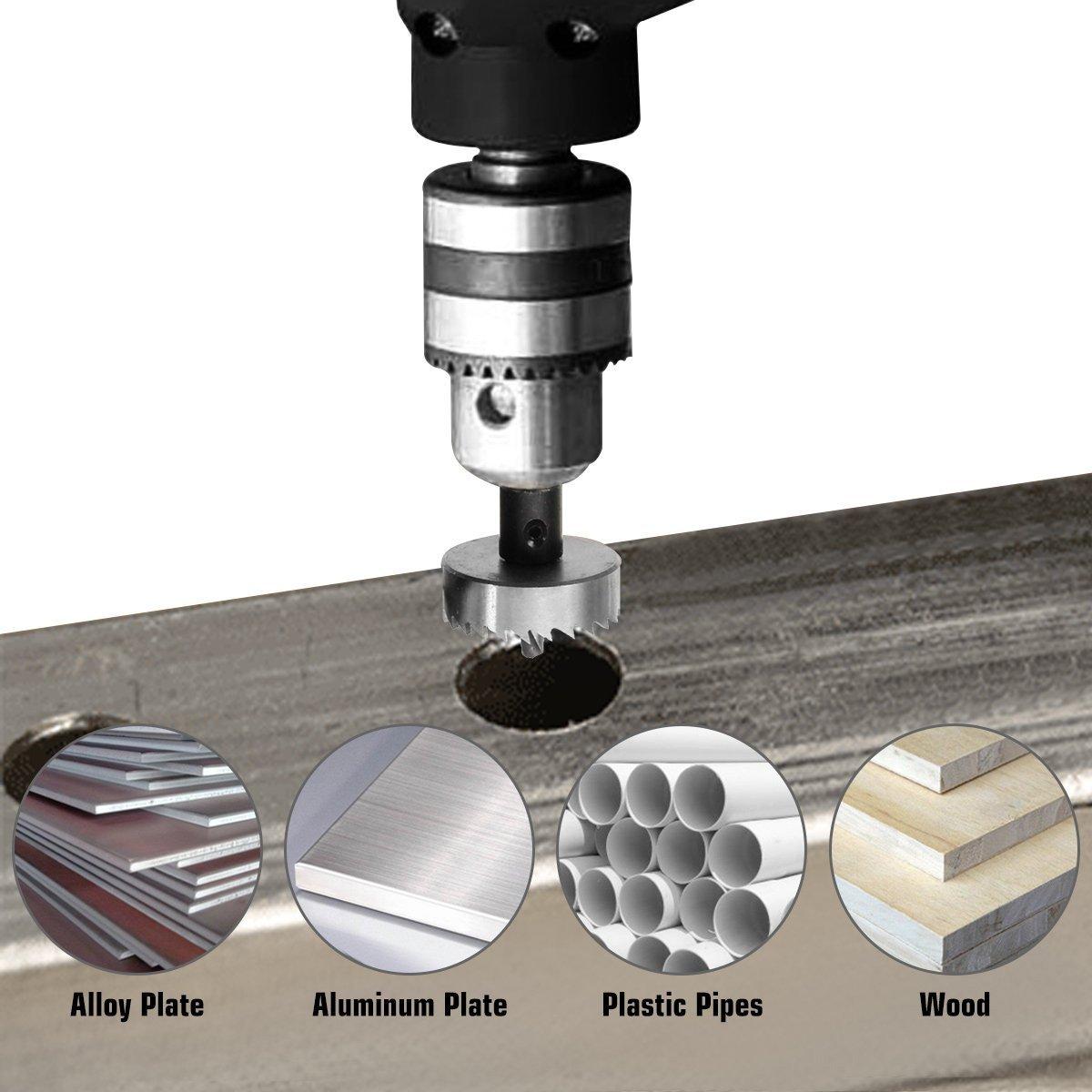 Set di 6 seghe a tazza da in acciaio inox e lega metallica tubi zincati e altri metalli acciaio inox 35-48 mm applicabile a acciaio alluminio