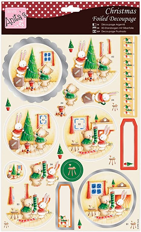 Christmas Village great for cards and crafts Anita/'s Foiled Decoupage