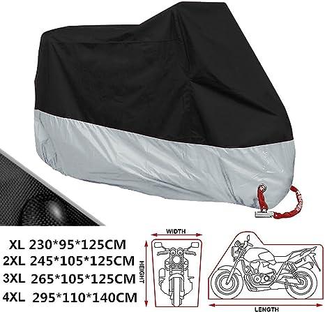 230*95*125 cm con Sacca per il Trasporto ANFTOP Telo Coprimoto Impermeabile 190T Copri Scooter Moto Antipolveri Anti-UV per Esterni Colore: Nero Misura XL