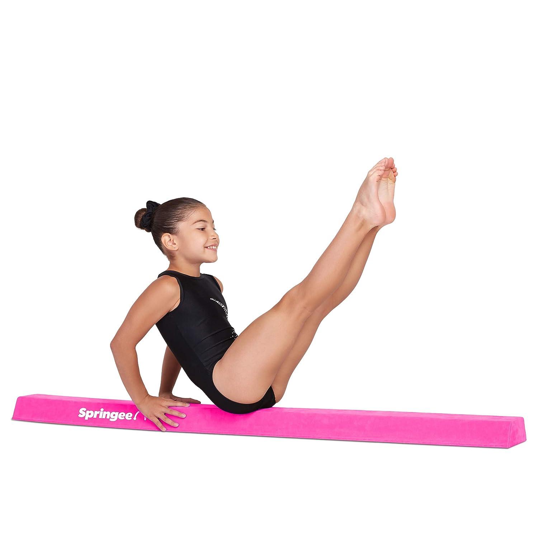 5フィートセクションバランスビーム – エクストラファームセクション体操ビーム – 自宅の練習用体操器具 – 子供用の安全なバランスビーム B07D8HYXNK ピンク