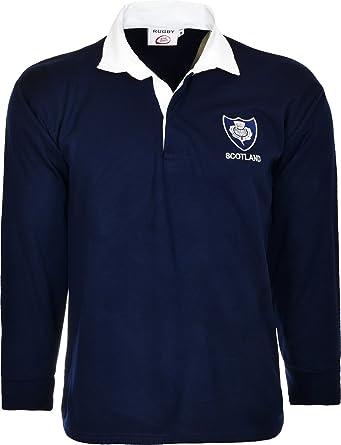 Scotland Rugby Camisa Manga Larga Con Anillas Classic Retro de tamaño superior S a 3 x l: Amazon.es: Ropa y accesorios