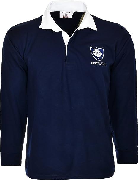 Jersey del equipo escocés de rugby, manga larga, con cuello ...