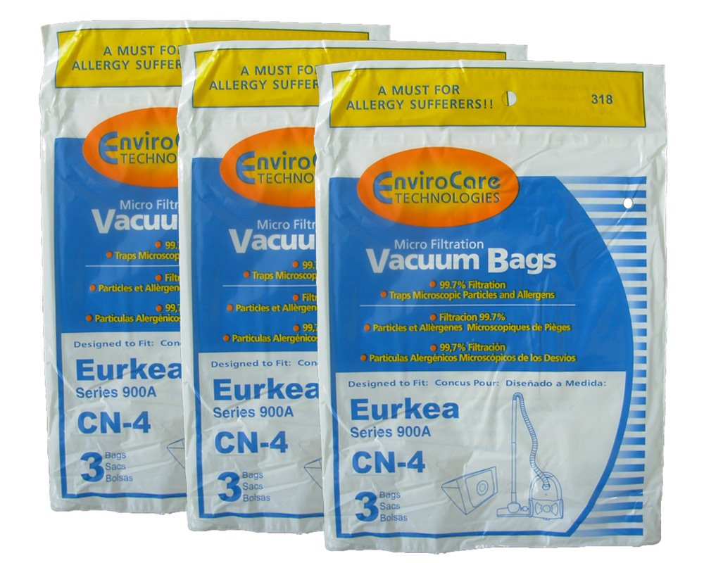 9 Eureka 900A PowerForce Micro Filtration CN 4 Vacuum Bag 68937-6 67740, Canister Vacuum Cleaners, 68937, 68937-6, CN-4, Eureka b003l20ft0, 67740, PowerForce 900A series