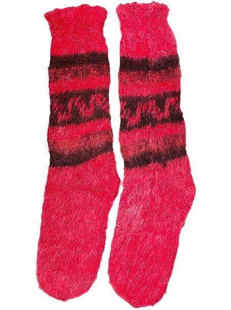 Gamboa - Calcetines de Lana de Alpaca Muy Suaves y Cálidos - Rosa: Amazon.es: Ropa y accesorios