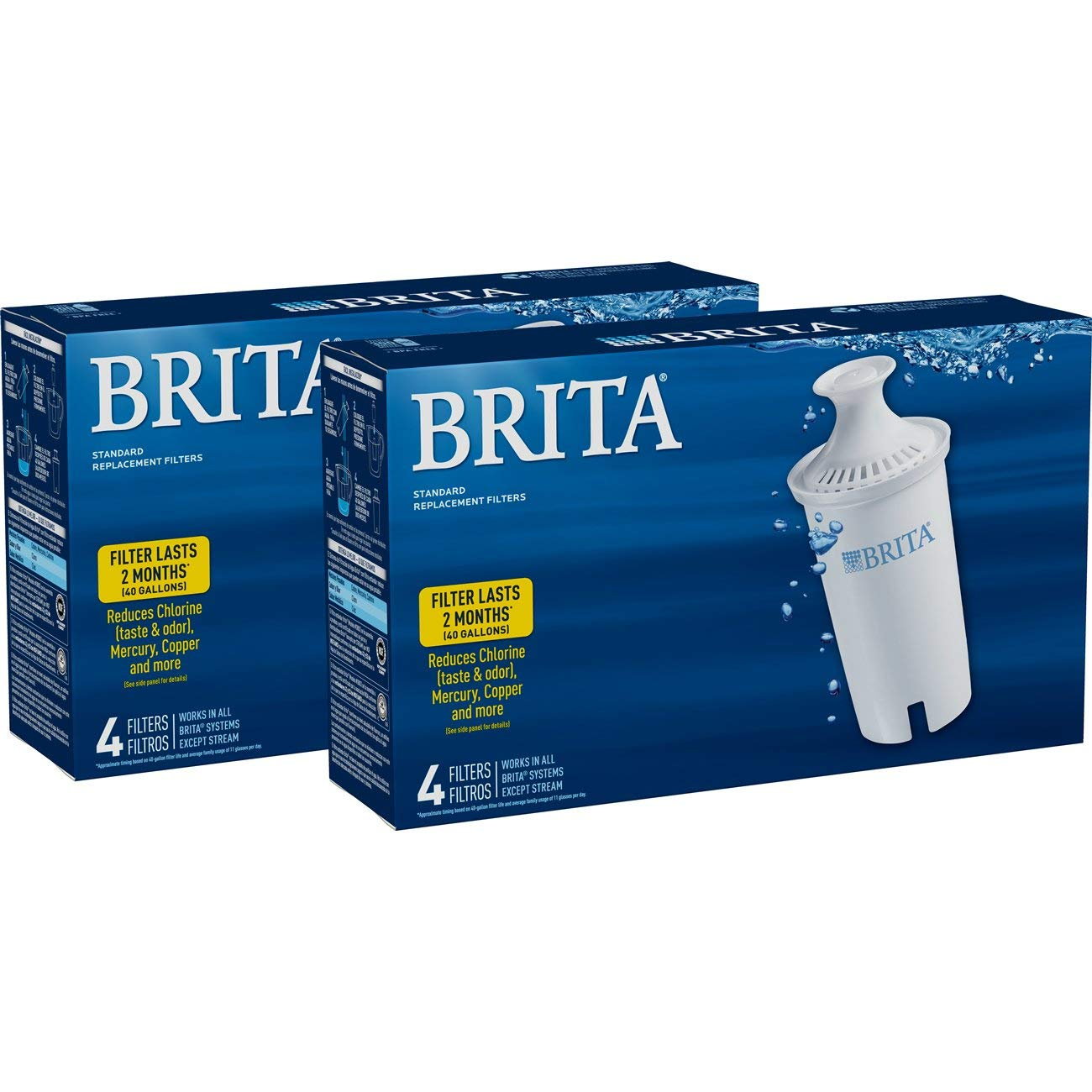 Brita Standard Water Filter, Standard Replacement Filters for Pitchers and Dispensers, BPA Free - 8 Count by Brita (Image #5)