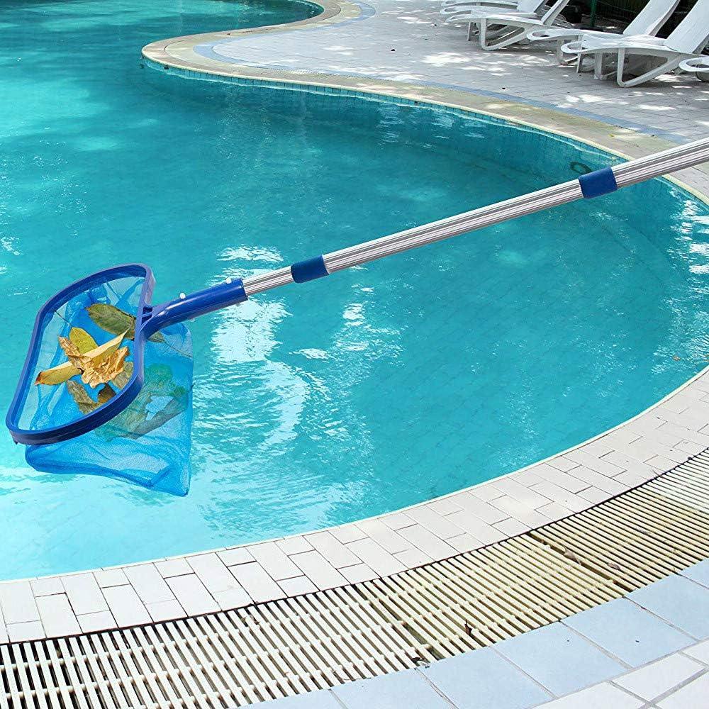Fast Cleaning Deep Net Bag Commercial Grade Margrita Swimming Pool Leaf Skimmer Rake with Strong Reinforced Aluminum Frame Handle Easy Debris Pickup /& Removal