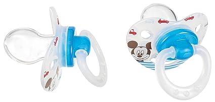 Tigex Mickey - Pack de 2 chupetes fisiológicos, de silicona + 6 meses