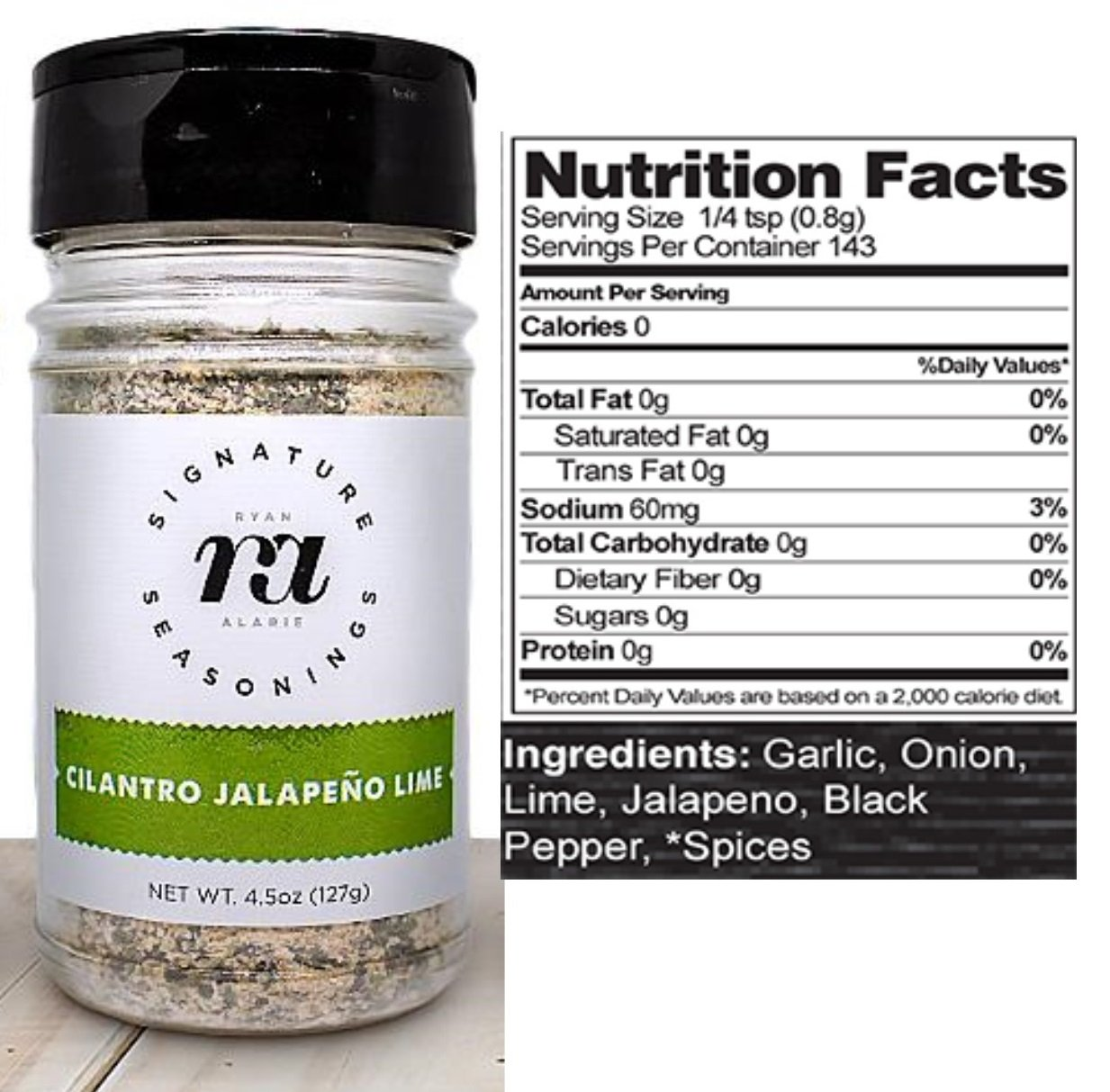 RA Seasonings Gluten Free, Keto Friendly, All Natural Seasonings Set of 3 - All Purpose, Zesty Garlic, Cilantro Jalapeno Lime Spice Blends – Low Sodium, Non GMO Large 4.5 oz Shakers - by
