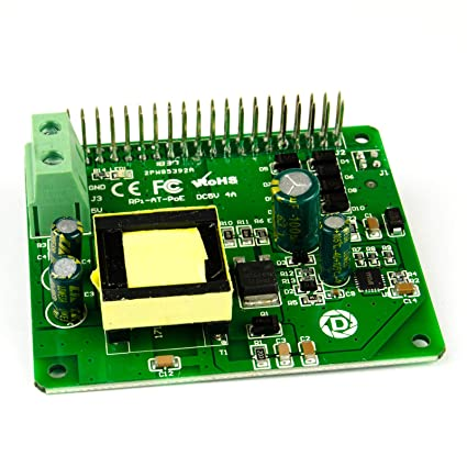 Waveshare Power Over Ethernet Hat for Raspberry Pi 3B+ and