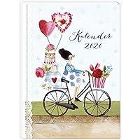 Taschenkalender 2020, Jahreskalender, Jahresplaner, Je Woche zwei Seiten, praktischer Terminkalender, 136 Seiten, 2 Seiten pro Woche, Klebebindung DIN A6
