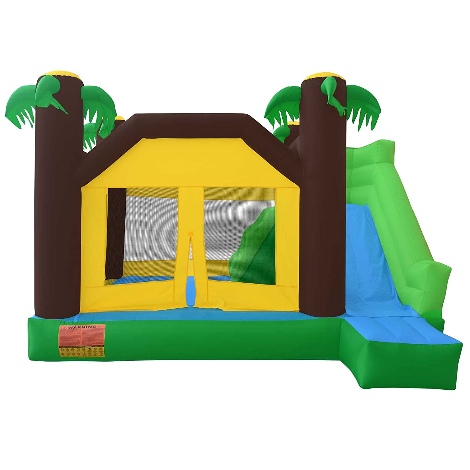 cloud 9 jungle bounce house with climbing wall and