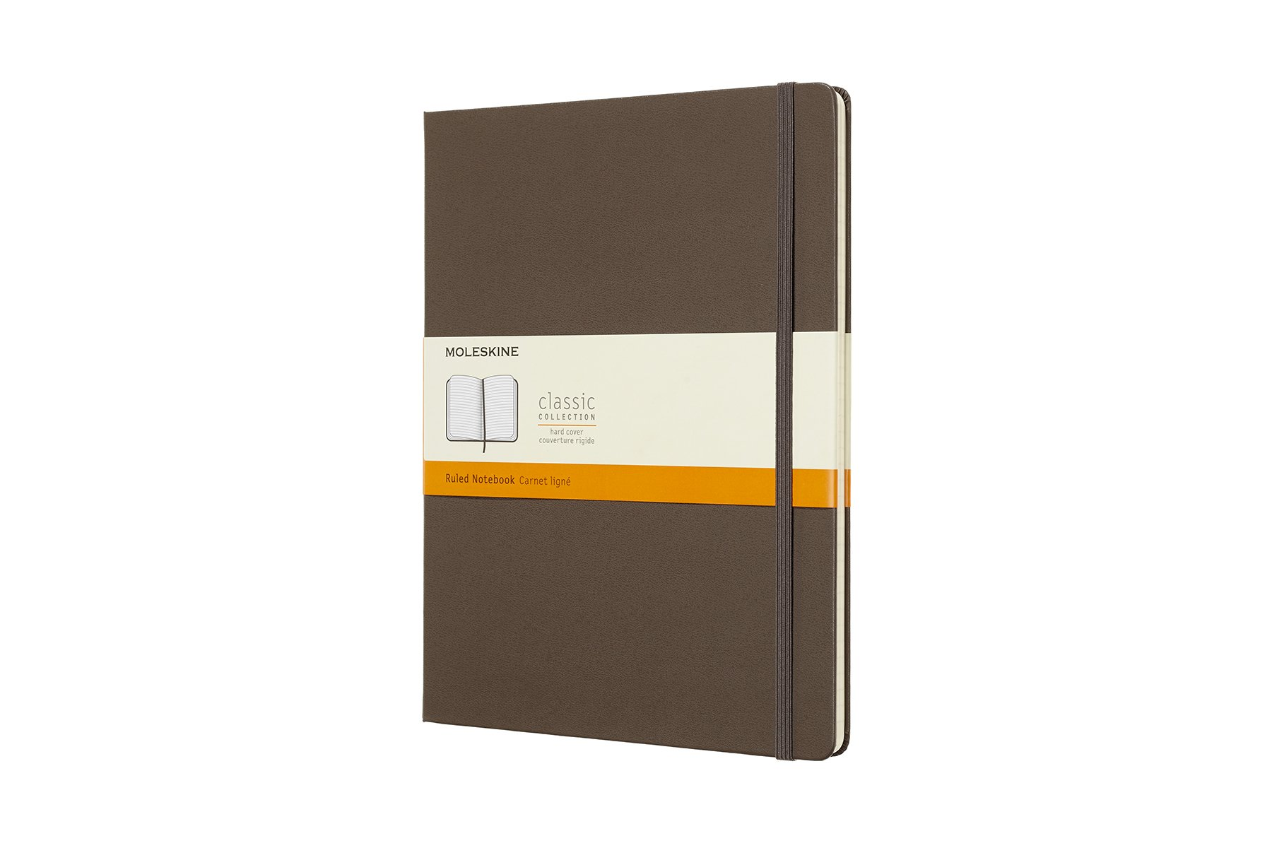 Moleskine Classic Hard Cover Notebook, Ruled, XL (7.5 ()