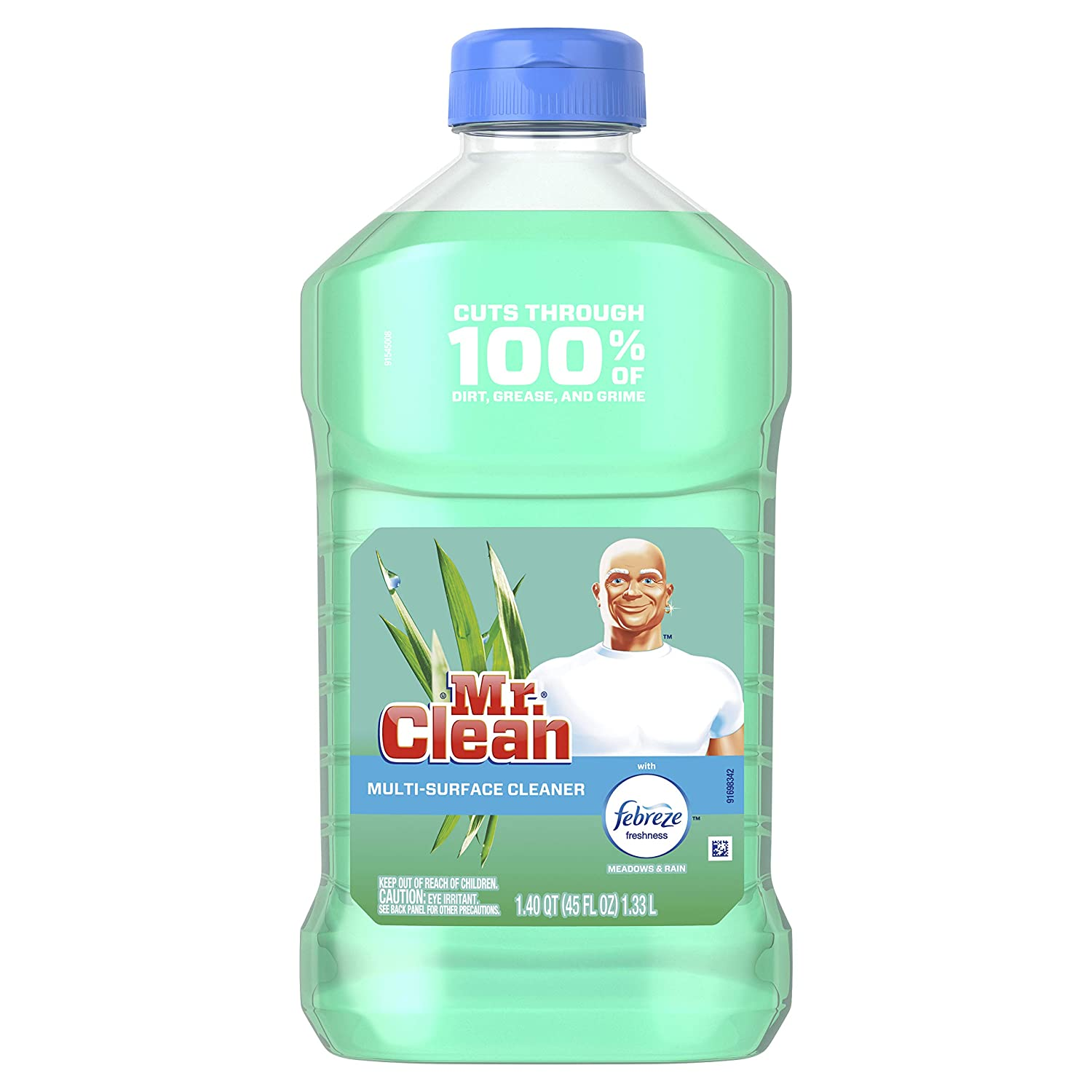 Mr. Clean with Febreze Meadows and Rain Multi-Surface Cleaner, 45 fl oz (Pack of 6)