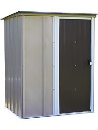 arrow brentwood pent roof steel storage shed coffeetaupeeggshell 5 x - Garden Sheds 5 X 9