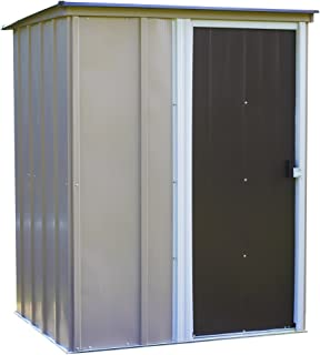 Arrow Brentwood Pent Roof Steel Storage Shed, Coffee/Taupe/Eggshell, 5 X
