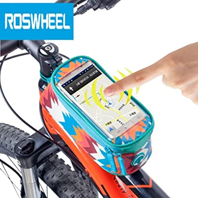 Roswheel Bike écran tactile 12,2cm écran tactile Sac Poche pour téléphone d'équitation Cyclisme Fournitures 420d Polyester + Diamant cuir Construction