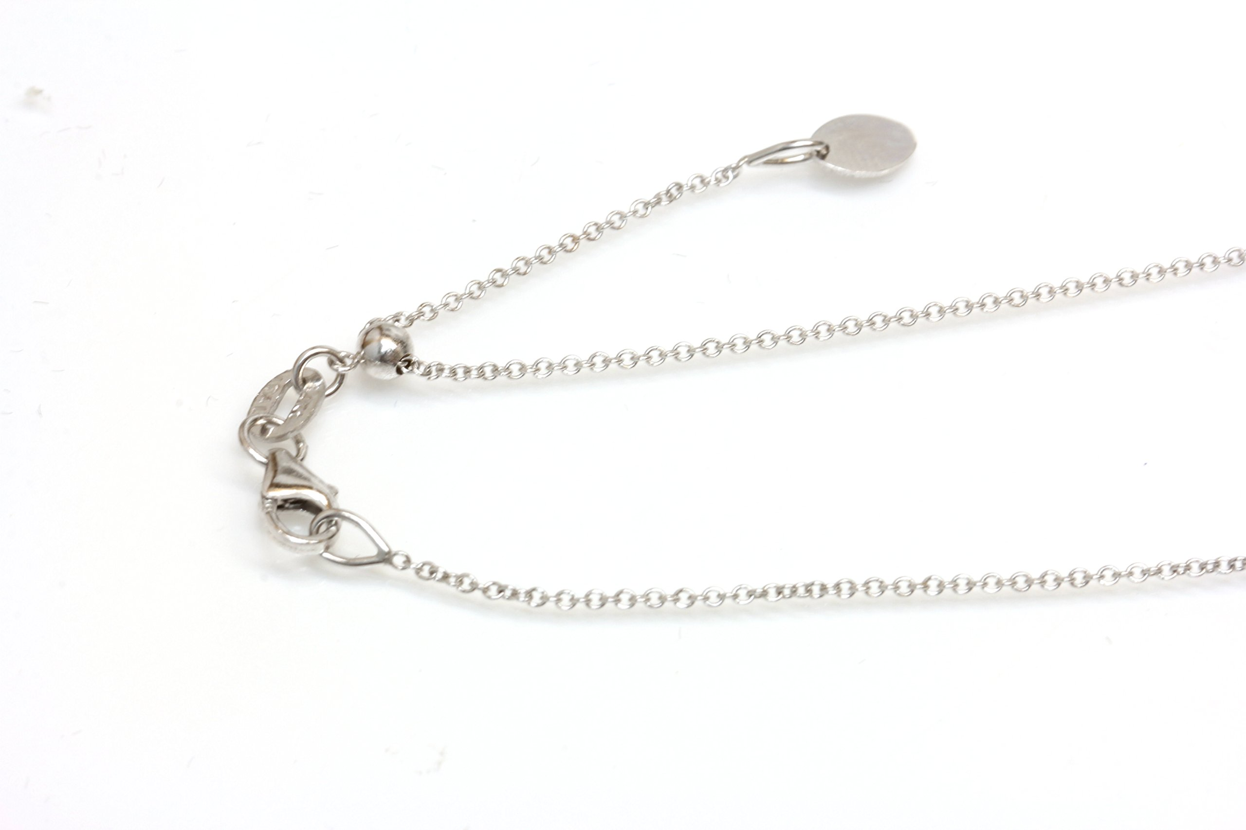 14kt Solid White Gold Adjustable Chain 14'', 16'',18'' 20'' Easy Slide and Adjust ,Italy Lobster Claw Clasp