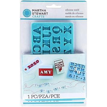 Martha Stewart Crafters Clay Silicone Mold 1 Pkg Alphabet
