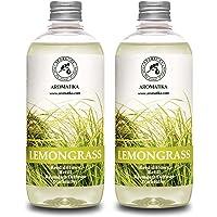 Lemongrass Diffuser Refill 34 oz (2x17oz) - Fresh & Long Lasting Fragrance - Refill with Natural Essential Lemongrass…