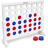 GoSports Giant 4 in a Row Game with Carrying Case - 3 foot Width - Made from Wood