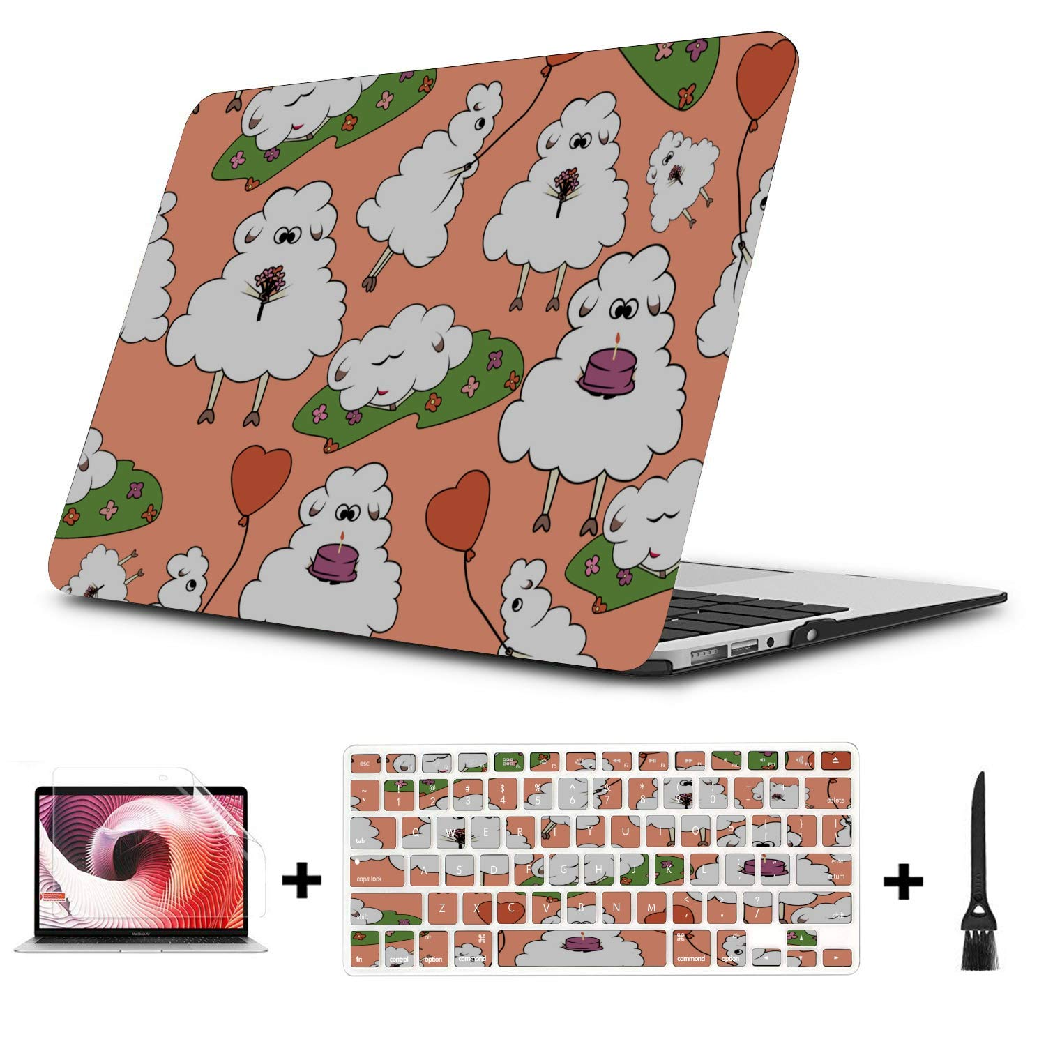 Mac Covers Sheep Retro Wild Animal Naturel Plastic Hard Shell Compatible Mac Air 11 Pro 13 15 Laptop Case Protection for MacBook 2016-2019 Version