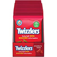 TWIZZLERS Licorice Candy, Stawberry Extra Soft Bites, 170 Gram, 12 Count