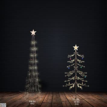 artifical christmas trees set sale of 8 feet star stand and 5 feet fir led tree