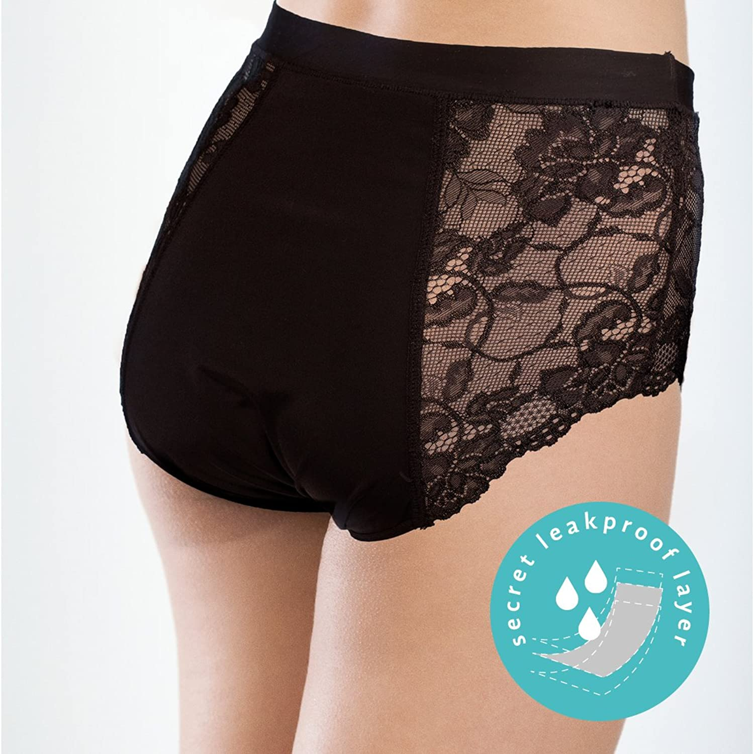 7aa2a6f46cb1 Details about Pretty Clever Pants (Black Lace) – Leakproof Incontinence  Underwear Knickers 2pk