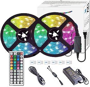 Led Strip Lights,Orecla 32.8ft Led Strip Lights, Upgraded 44key Wireless Remote Controller, 12V Safety RGB Color Changing SMD 5050 300 LEDs Waterproof Rope Lights for Home Outdoor Lighting Decoration