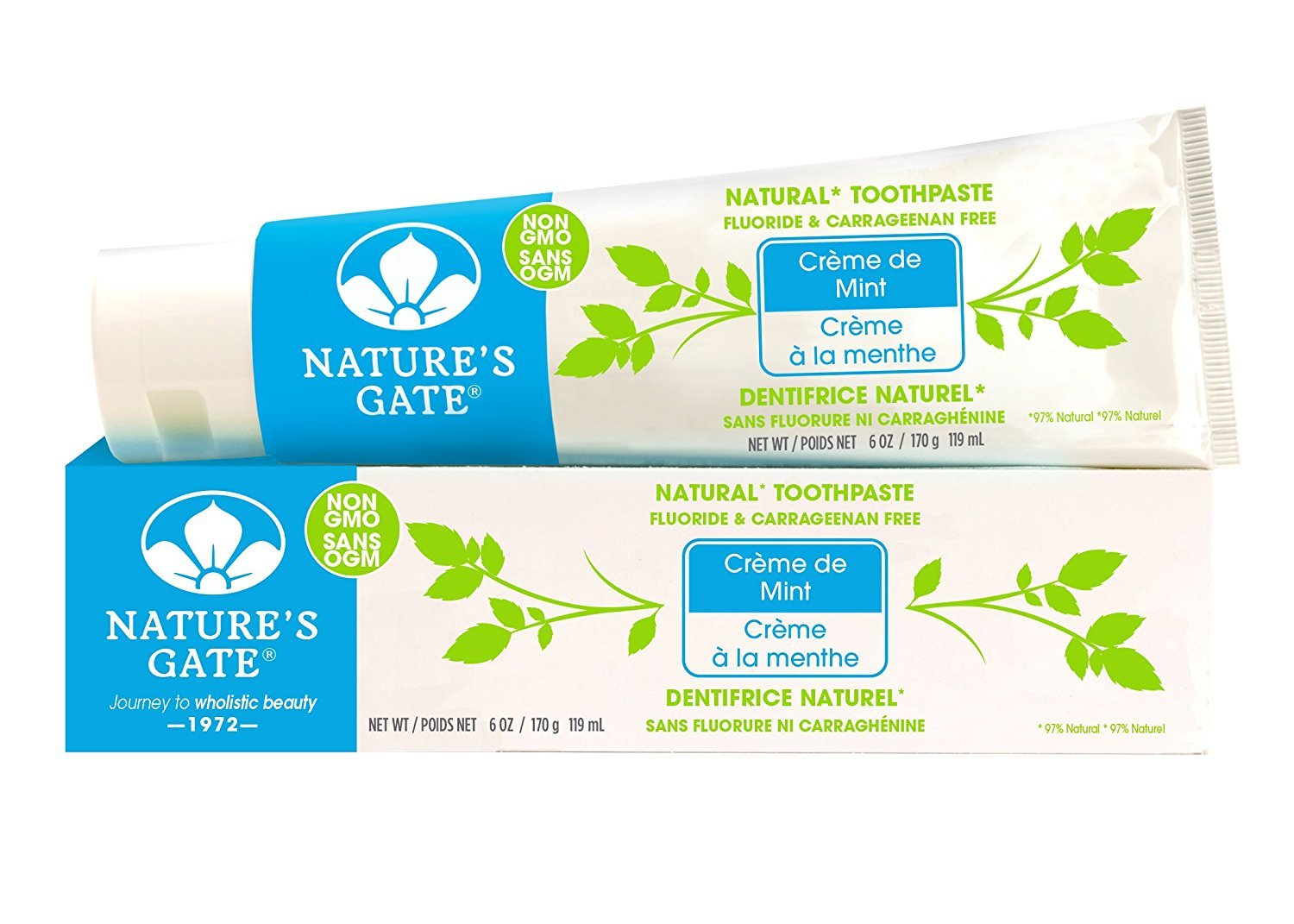 Nature's Gate Natural Toothpaste Herbal Creme de Mint, 6 Ounce (Pack of 2)