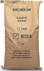 EasyGoProdcuts Sunflower Kernels – Medium Sun Flower Wild Bird Seed Chips 50 lb, Model Number: Sunflower-50-MED