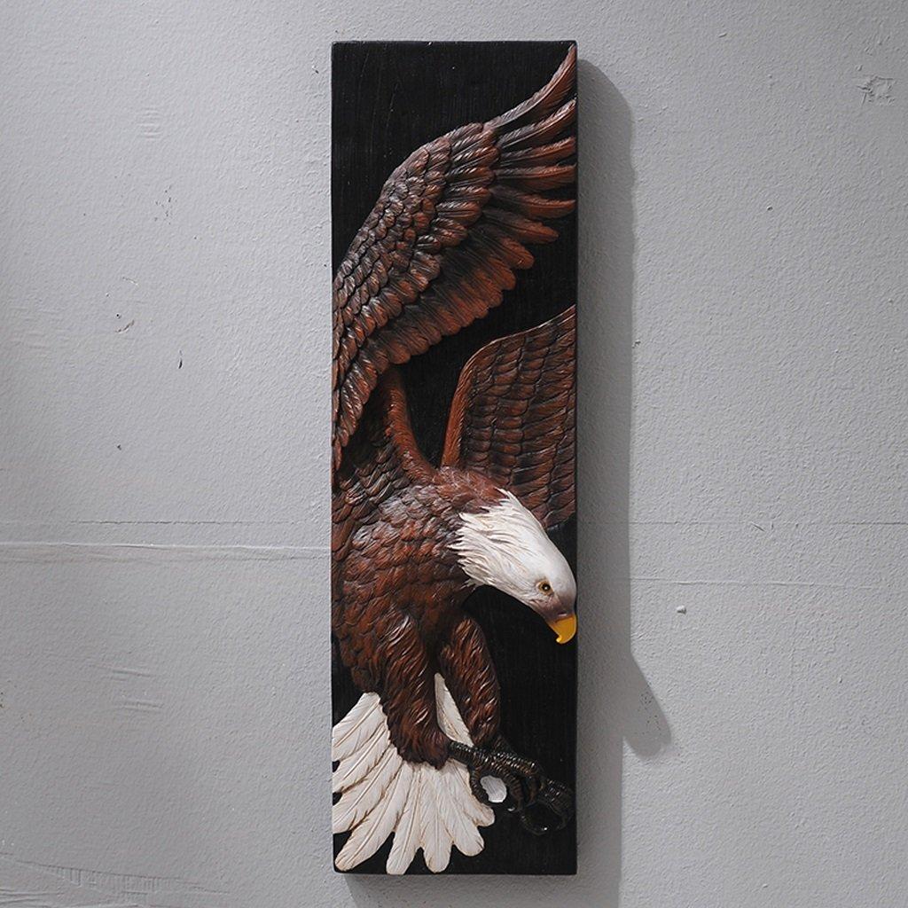 GAOLILI 動物頭壁壁画クリエイティブレトロ3次元ポーチ壁ペンダントリビングルームバーデコレーション (色 : D, サイズ さいず : 75cm) B07QQRNWKV D 75cm