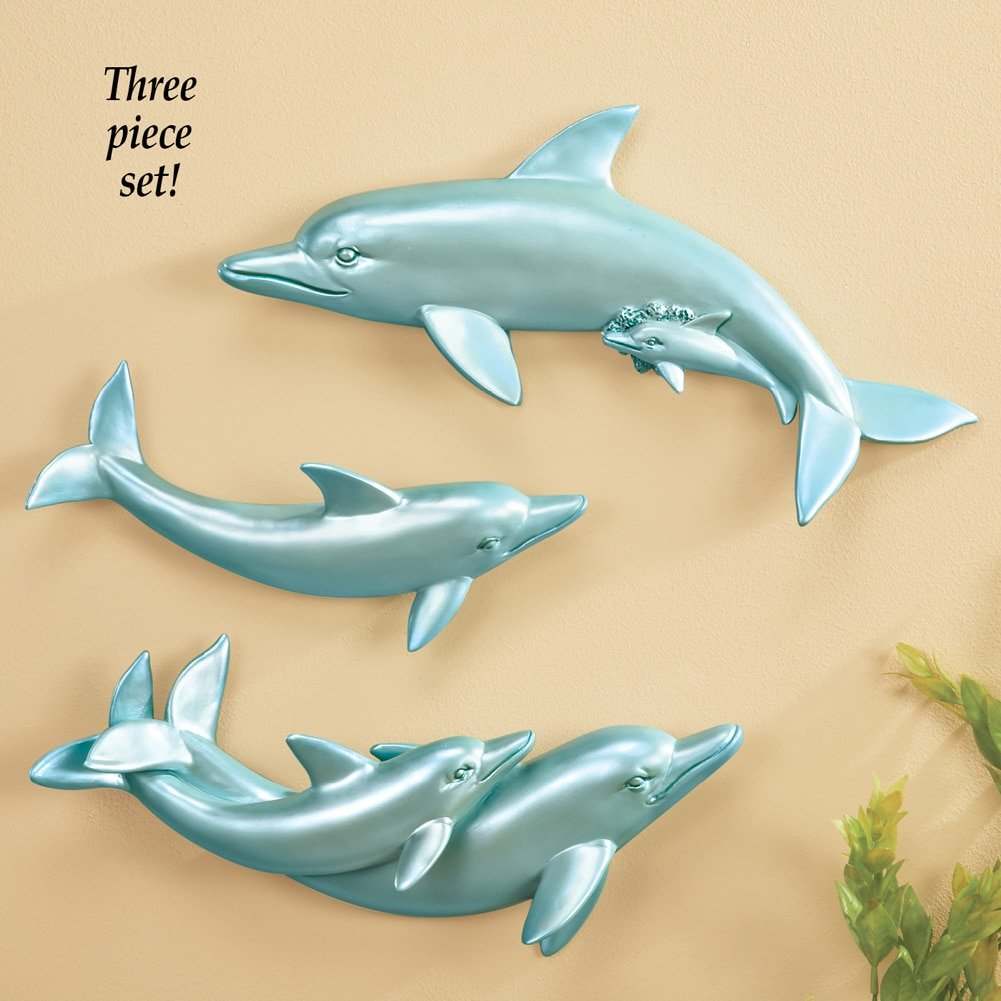 Fancy Dolphin Metal Wall Art Festooning - Art & Wall Decor ...