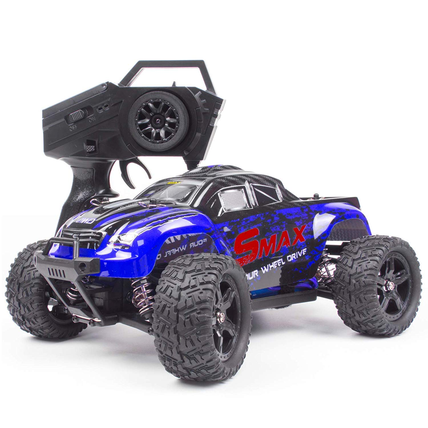 Cheerwing 1:16 2.4Ghz 4WD High Speed RC Off-Road Monster Truck Brushed Remote Control Car, Blue
