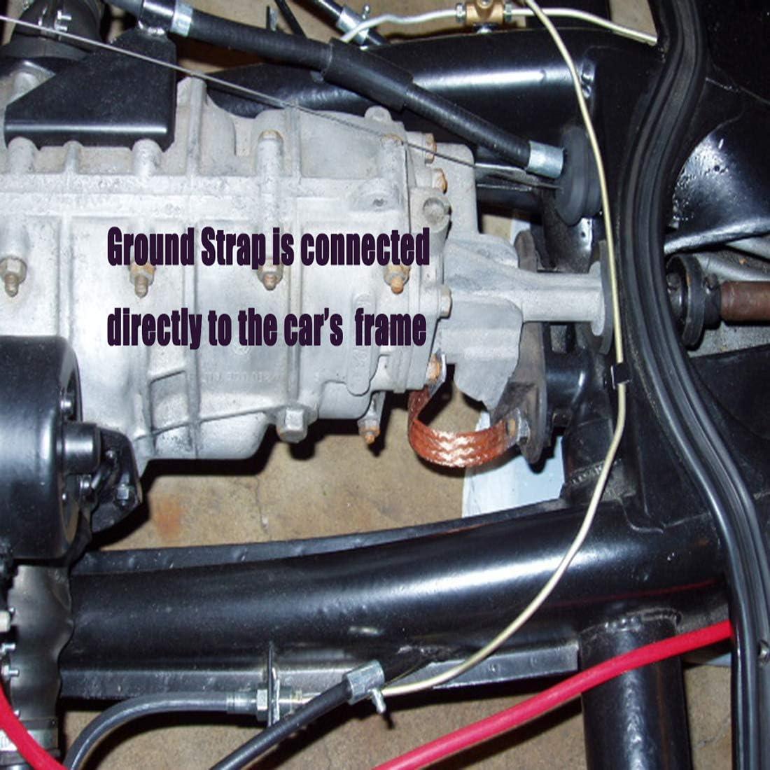 Multi-Purpose Universal Braided Copper Grounding Strap for Truck Automotive 29cm 10PCS 11.4
