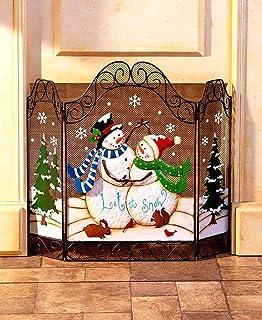Amazon.com: Snowman Christmas Fireplace Screen: Home & Kitchen