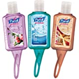 PURELL Hand Sanitizer Advanced - Travel Sized Jelly Wrap Portable Sanitizer Bottles, Winter Scents - (1 oz, Pack of 8)